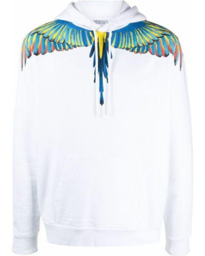 Biała bluza długa z kapturem z długimi rękawami Marcelo Burlon County Of Milan