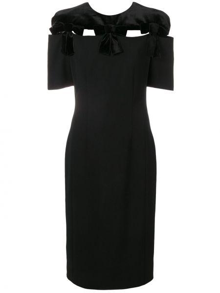 Платье годе черное Fendi