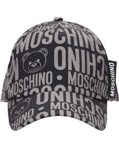Baseball czarny kapelusz z gabardyny Moschino