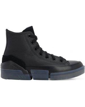 Buty sportowe skorzane - czarne Converse