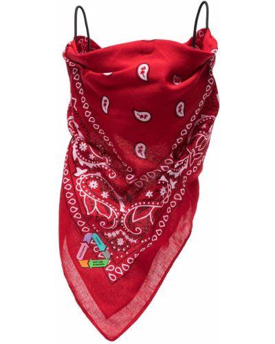 Bawełna bawełna bandana na paskach khaki Natasha Zinko