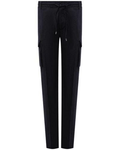 Синие шерстяные брюки Cortigiani