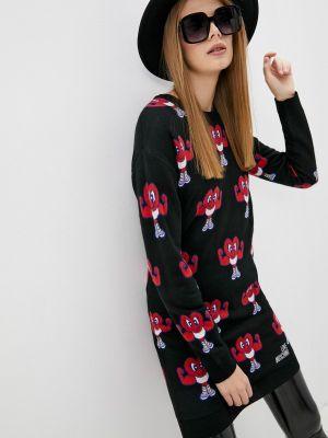 Вязаное платье - черное Love Moschino