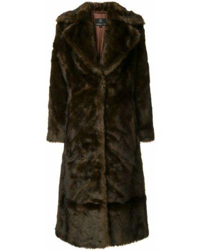 Коралловое длинное пальто Unreal Fur