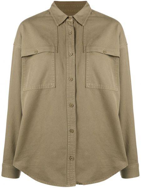 Хлопковая зеленая джинсовая рубашка с воротником Closed