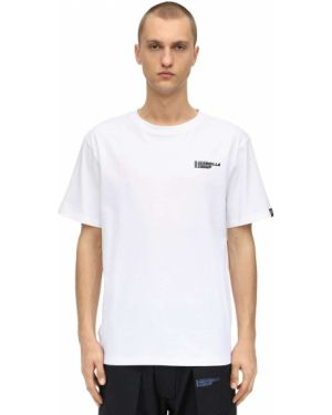 Prążkowany biały t-shirt bawełniany Guerrilla Group