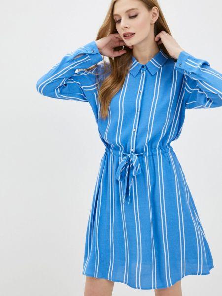 Джинсовое платье платье-рубашка синее Tom Tailor Denim