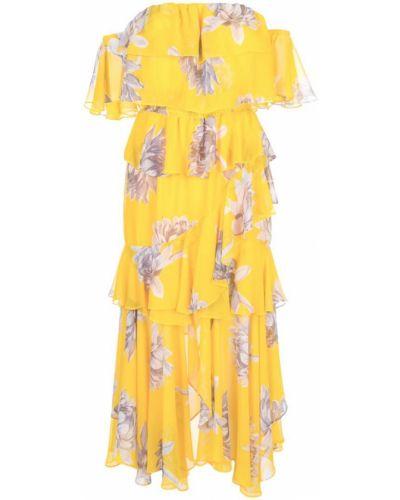 Платье с цветочным принтом через плечо Misa Los Angeles