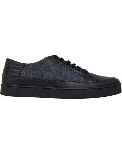 Кожаные кроссовки на шнуровке повседневные Gucci