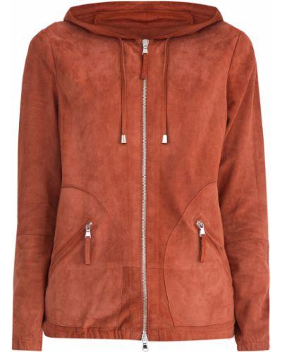 Куртка с капюшоном бархатная замшевая Eleventy