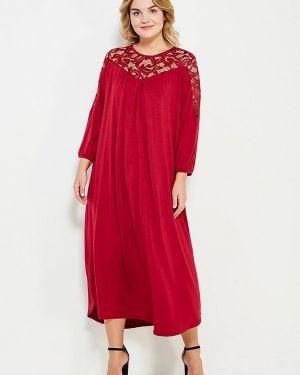 Платье осеннее красный Артесса