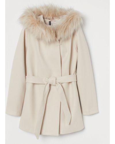 Пальто с капюшоном - бежевое H&m