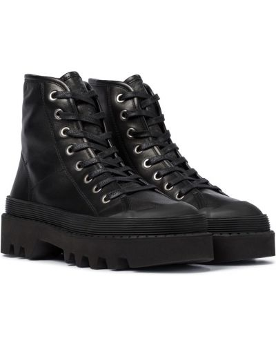 Czarne ankle boots skorzane Proenza Schouler