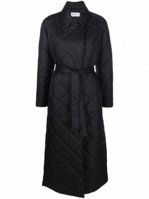 Czarny płaszcz kopertowy Palto