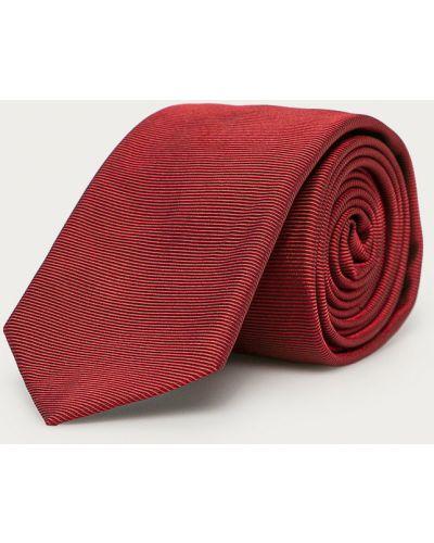 Czerwony krawat z jedwabiu Hugo
