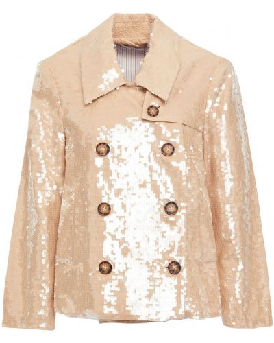 Ватная куртка двубортная с пайетками Veronica Beard
