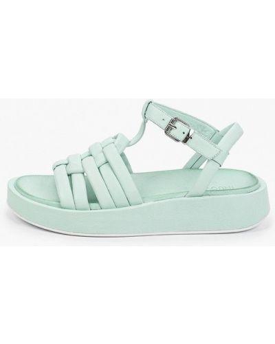 Кожаные сандалии - зеленые Inuovo