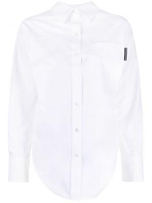 Biała klasyczna koszula bawełniana z długimi rękawami Alexander Wang