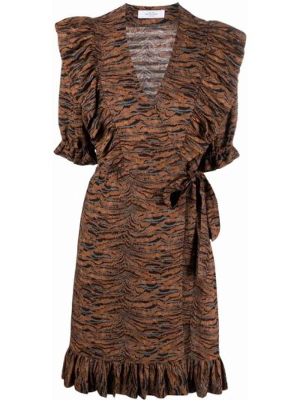 Платье мини короткое - коричневое Roseanna