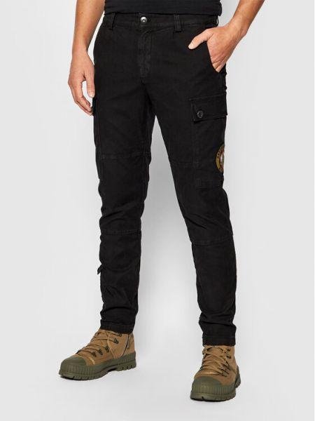 Czarne spodnie materiałowe Aeronautica Militare