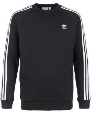 Свитшот черный с нашивками Adidas Originals