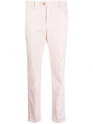 Хлопковые розовые укороченные брюки с карманами Peuterey