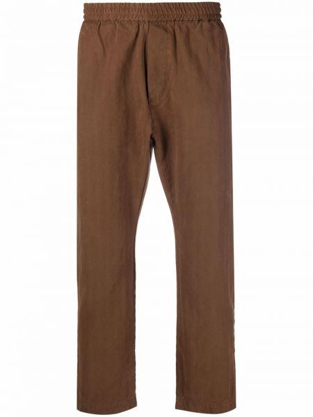 Brązowe spodnie bawełniane Barena