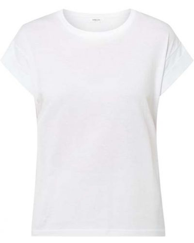 Biały t-shirt bawełniany Moss Copenhagen