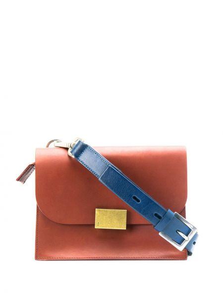 Красная сумка через плечо с перьями Ally Capellino