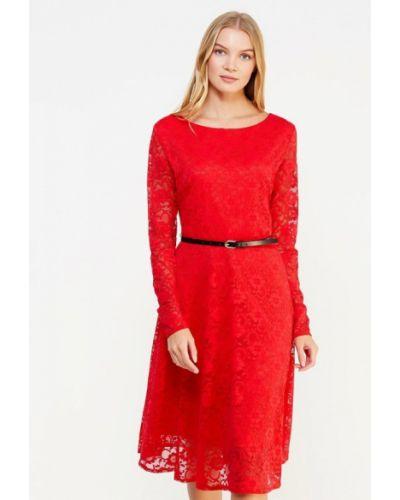Вечернее платье весеннее красный City Goddess