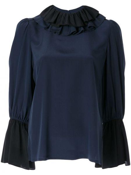 Блузка шелковая на резинке Tory Burch