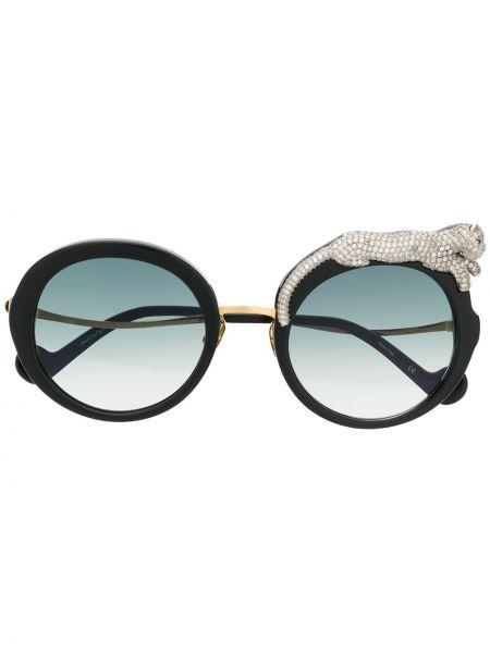Czarne okulary srebrne Anna Karin Karlsson