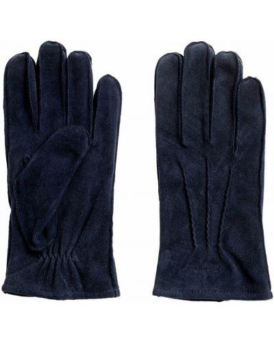 Klasyczne rękawiczki - niebieskie Gant