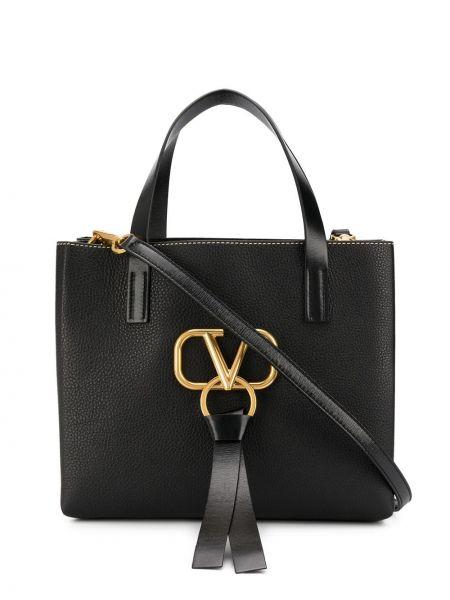 Skórzana torebka na ramię walizka Valentino