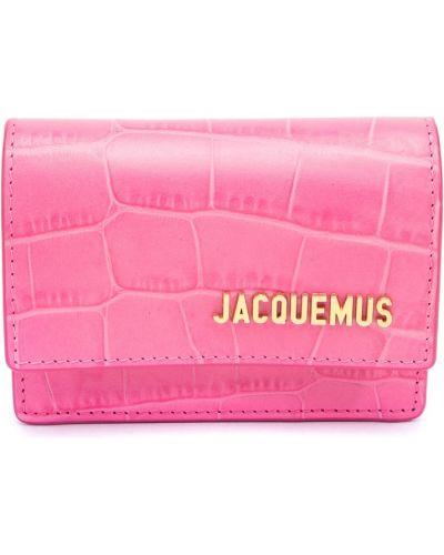 Розовая кожаная поясная сумка с поясом Jacquemus