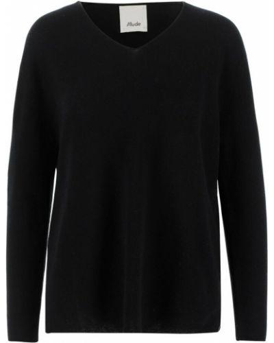 Czarny z kaszmiru sweter Allude
