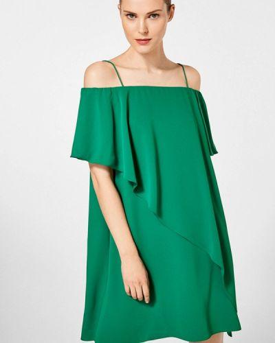 Платье мини весеннее зеленый Pedro Del Hierro