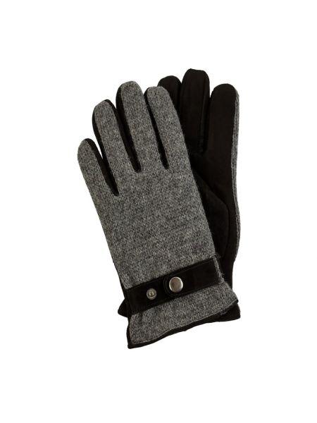 Skórzany rękawiczki prążkowany włókienniczy Eem-fashion