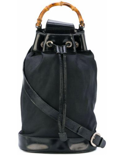 Кожаная сумка сумка-тоут черная Gucci Vintage