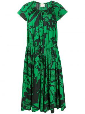 Платье мини с цветочным принтом с заниженной талией La Doublej