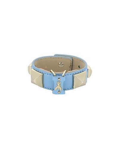 Кожаный браслет синий Patrizia Pepe