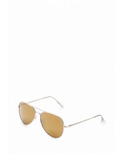 Солнцезащитные очки золотого цвета Dorothy Perkins