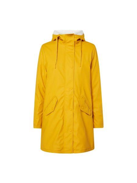 Żółty płaszcz z kapturem Only