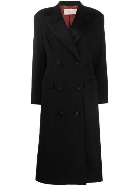 Długi płaszcz zapinane na guziki z kieszeniami Tory Burch