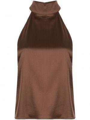 Шелковый топ - коричневый Anine Bing