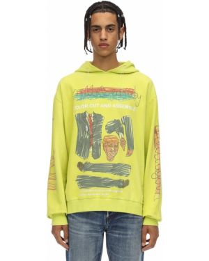 Prążkowana bluza z kapturem bawełniana Klsh - Kids Love Stain Hands