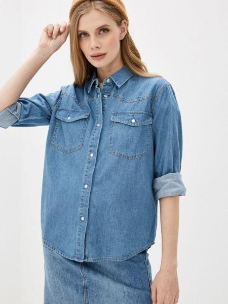 Джинсовая рубашка синяя Sela