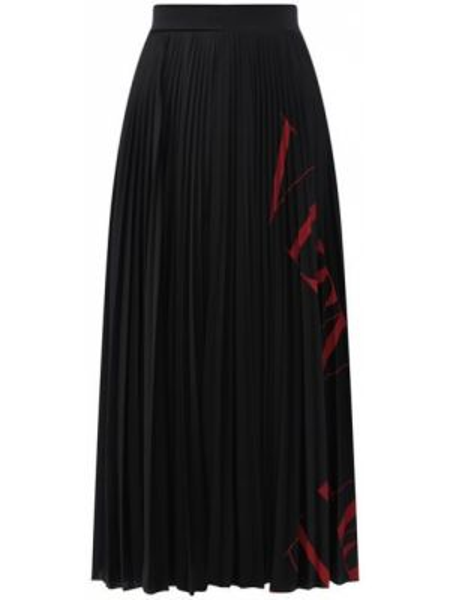 Плиссированная юбка сетчатая с принтом Valentino