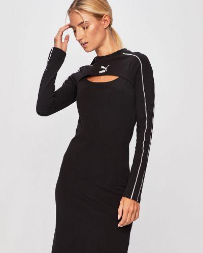 Платье однотонное с декольте Puma
