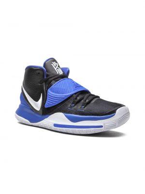 Черные кожаные высокие кроссовки Nike